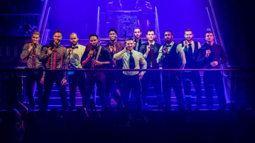 Cast of Magic Mike Wearing Suits